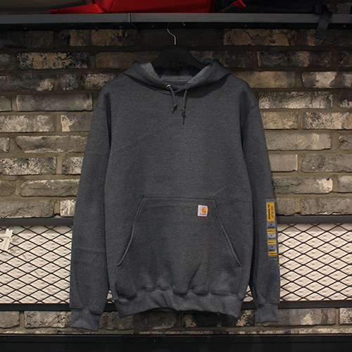 [칼하트] 후드티 Carhartt Midweight Logo Sleeve Hooded Sweatshirt (CHACOAL HEATHER) - CHTK288CH