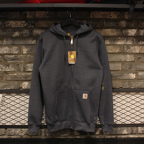 Carhartt Midweight Zip Front Hooded Sweatshirt (CHACOAL HEATHER) - CHTK122CH[칼하트 트레이닝복/미드웨이트 후드집업]