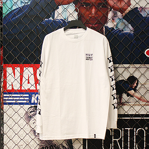 [허프] HUF X SAMMY WINTER LS TEE (WHITE) - HFA17TS029WH [허프 HUF 긴팔티]