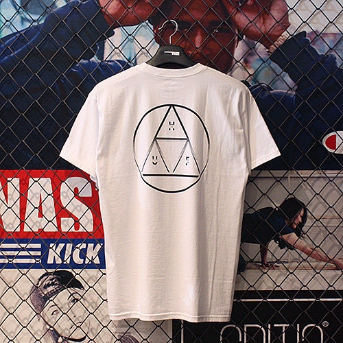 CIRCLE TRIPLE TRIANGLE TEE (WHITE) - HFA17TS036WH [허프 HUF 반팔티]