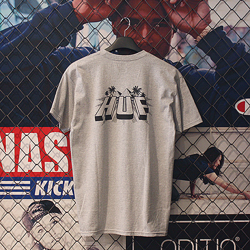 PYRAMID TEE (GREY HEATHER) - HFA17TS014GH [허프 HUF 반팔티]