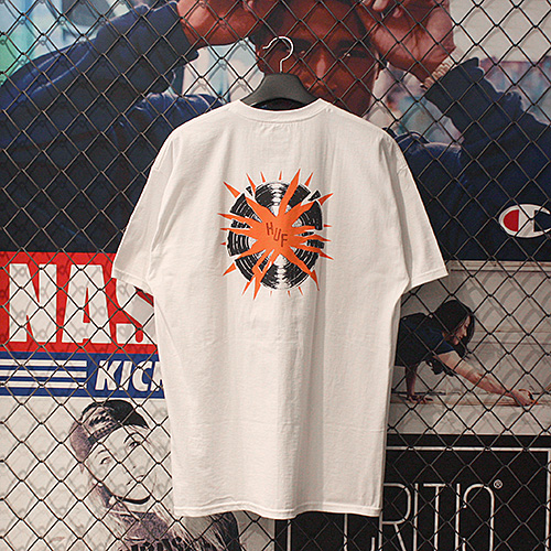 BROKEN RECORD TEE (WHITE) - HFA17TS040WH [허프 HUF 반팔티]
