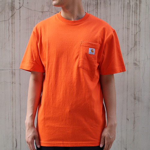 [칼하트] 포켓 반팔티Workwear T-Shirt (Orange) - CHTK87OR
