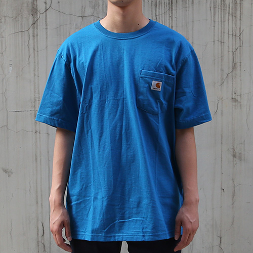 [칼하트] 포켓 반팔티Workwear T-Shirt (Island Blue) - CHTK87IB