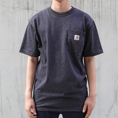 [칼하트] 포켓 반팔티Workwear T-Shirt (Cabon Heather) - CHTK87CA