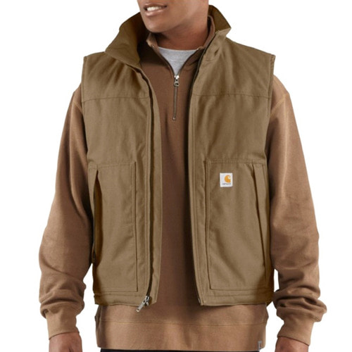 [칼하트] [Carhartt] Jefferson Quick Duck Vest (Carhartt Brown)-CHT101494CB