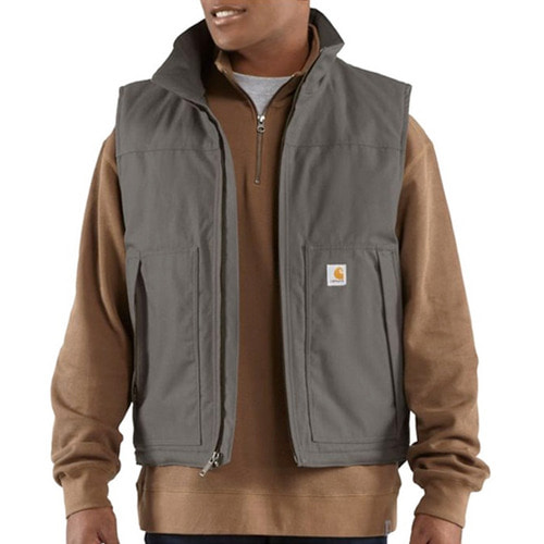 [칼하트] [Carhartt] Jefferson Quick Duck Vest (Charcoal)-CHT101494CH