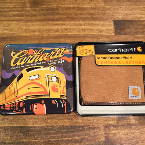 [칼하트] Canvas Passcase Wallet (Carhartt Brown) [칼하트 지갑/정품]-CHT61-2216-20
