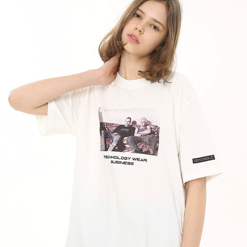 [써드위브 20%할인] MARK ROUND T-SHIRT / WHITE