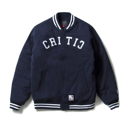 크리틱 스타디움자켓 HEAVY SWEAT VARSITY JACKET (NAVY) - CTOIASJ01MNV