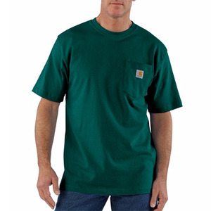 [칼하트] 포켓 반팔티 Workwear T-Shirt (HUNTER GREEN) - CHTK87HG