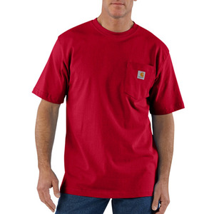 [칼하트] 포켓 반팔티Workwear T-Shirt (RED) - CHTK87RD