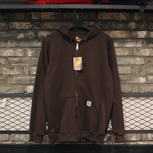 [칼하트] 후드집업 Carhartt Midweight Zip Front Hooded Sweatshirt (DARK BROWN) - CHTK122DB