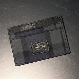 스투시 카드홀더 TARTAN CARD HOLDER (NAVY) - ST136113NV