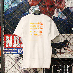 DBC GRADIENT QUOTES TEE (WHITE) - HFA17TS011WH [허프 HUF 반팔티]