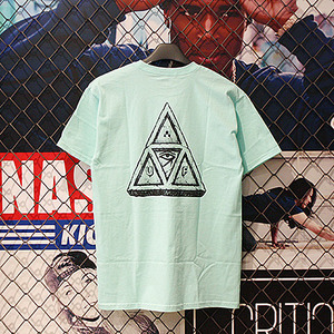 SUMRA TRIPLE TRIANGLE TEE (TEAL) - HFA17TS048TE [허프 HUF 반팔티]