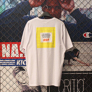 ANGER POCKET TEE (WHITE) - HFA17TS010WH [허프 HUF 반팔티]