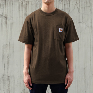 [칼하트] 포켓 반팔티Workwear T-Shirt (DARK BROWN) - CHTK87DB
