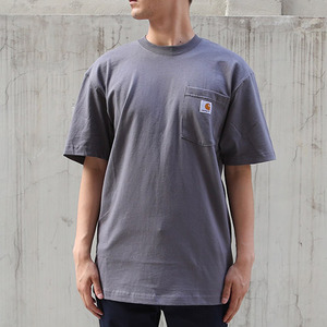 [칼하트] 포켓 반팔티Workwear T-Shirt (Charcoal)-CHTK87CH