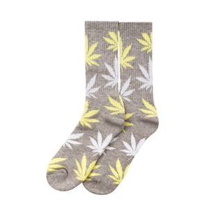 [허프] PLANTLIFE CREW SOCK (LIGHT GREY/YELLOW) - HFSPSK039 [허프 HUF 양말]