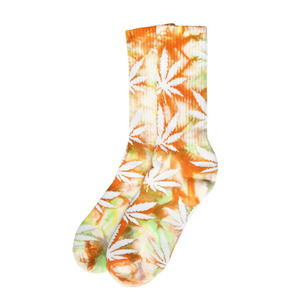 [허프] TIE DYED PLANTLIFE CREW SOCK (ORANGE) - HFSPSK055 [허프 HUF 양말]