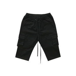 [011] 스트랩 포켓 팬츠(블랙) Strap Pocket Shorts (black)_B01117SS014