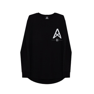 [011] 긴팔티 011 Logo Long Sleeve (black)