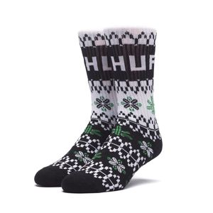 [허프] HUF HOLIDAY SWEATER SOCK (BLACK) - HF17WSK00177BLK [허프 HUF 양말]