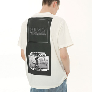 [써드위브 45%할인] BLOCK ROUND T-SHIRT / WHITE