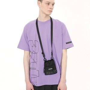 [써드위브 45%할인] BLOCK ROUND T-SHIRT / ULTRA VIOLET