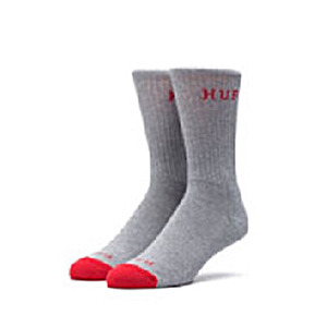 [HUF] A17 NATIONAL CREW SOCK /RED/GREY HEATHER - HFA17SK008RH[허프 HUF 양말]