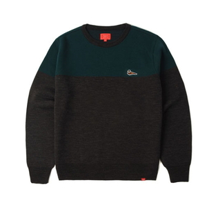 크리틱 스웻셔츠 맨투맨 PHEASANT KNIT SWEATER (GREY) - CTOFIKT01MCC