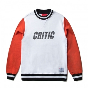 크리틱 스웻셔츠 맨투맨 STRIPE LOGO SWEAT SHIRT (OFF WHITE) - CTOSPCR16UC2